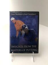 Dave Stockton Ben Crenshaw's Dvd Golfer Training Aid Putting Guru Pro Lessons