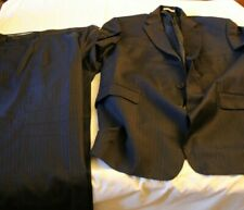 Burberry 44 Short Navy Blue Pinstripe Suit