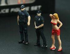 Lightcreate 1/64 US Police Figure Set w/ Female 'Suspect' - Great 4 Dioramas LC1