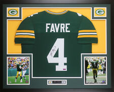 fba9667d0 Brett Favre Autographed and Framed Green Packers Jersey Auto JSA COA