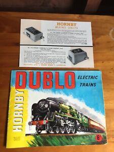 Vintage HORNBY DUBLO [Meccano] Electric Trains Brochure / Booklet / Catalogue