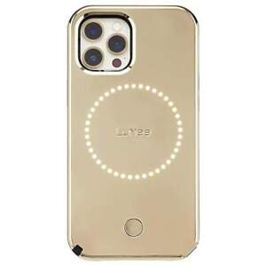 Case-Mate LuMee Halo Case Cover for iPhone 12 Pro Max Gold Mirror w/ Micropel