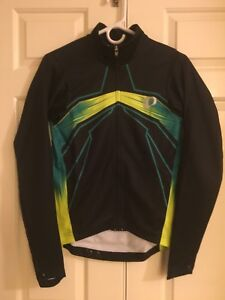 Pearl Izumi Elite Pursuit Thermal Jersey - Mens S - Blk/Yellow/Green - Brand New