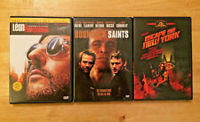 Lot 3 quirky action dvds The Professional, Boondock Saints, Escape From New York