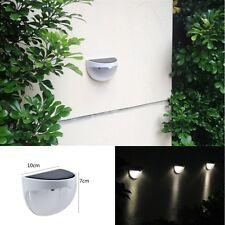 6LED Solar Power Wall Mount Light Cool White Outdoor Waterproof Garden Yard Lamp