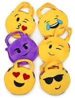 Wholesale Lot of 12 Emoji Plush Handbag Wristlet Pocketbook Stocking Stuffer