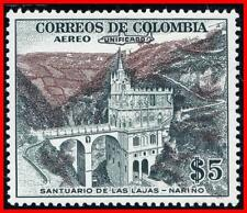 COLOMBIA 1959 AIRMAIL o/PRINT (KEY VALUE) SC#C345 MNH RELIGION, ARCHITECTURE