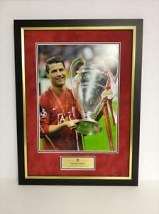 Cristiano Ronaldo Signed Framed 16X12 Photo Manchester United Display AFTAL COA