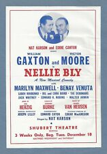 """William Gaxton """"NELLIE BLY"""" Victor Moore / Benay Venuta 1945 FLOP Tryout Flyer"""