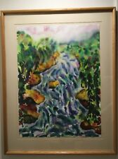 Helen Muskal Frazer River Whitewater (BC Canada) Watercolor Painting Original
