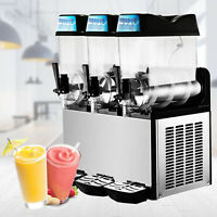 Commercial 3 *12L Frozen Drink Slushy Making Machine Smoothie Maker 110V Juice