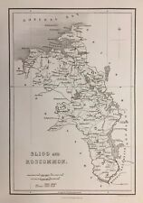 1841 Antique Map; Counties Sligo & Roscommon, Ireland