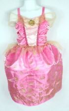 Fantasy Play Princess Aurora Child Size S Pink Costume Dress Up Sleeping Beauty