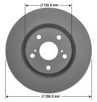 Disc Brake Rotor-Fully Coated Premium Brake Rotor Front  (OE 43512-02250)