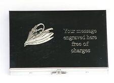 Titular de la tarjeta de emblema de pesca con mosca con construido en Calculadora Gratis Grabado Regalo