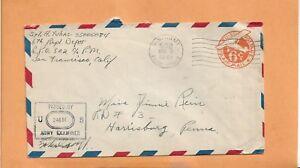 WW II U.S MILITARY COVER APO 502 US ARMY CENSORED 1945 CAMP BARNES NEW CALEDONIA