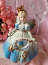 Vintage Josef Original Ceramic Birthday Year Angel Figurine 9 year