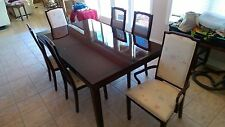 6 chair Oriental Dining Room Set