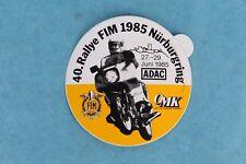VINTAGE 1985 INTERNATIONAL MOTORCYCLE 40. RALLYE FIM NURBURGRING HELMET STICKER
