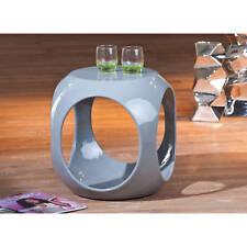 Beistelltisch grau hochglanz Wohnzimmertisch Beistell Tisch Nachttisch Design