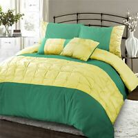 Luxury Range Embroidered Embellished Duvet Quilt Cover Bedding Set Virdis Celery