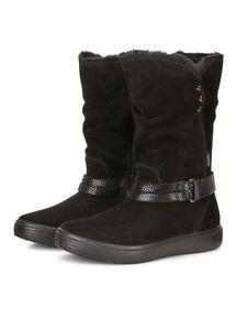 ECCO Girls S7 Teen Boots Black - SIZE  9.5 UK / EU 27 FREE P&P