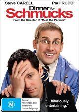 DINNER for SCHMUCKS (Steve CARELL Paul RUDD) Comedy Film DVD NEW SEALED Region 4