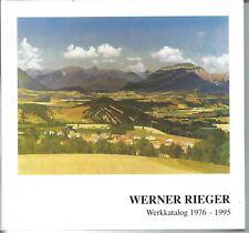 Werner Rieger, Werkkatalog 1976 - 1995, signiert