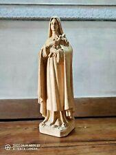 Statue antique Sainte VIERGE Thérèse de Lisieux PIERRACINI made in FRANCE jésus