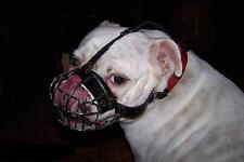 English Bulldog Muzzle UK Bestseller | Padded Wire Dog Muzzle for Flat Dog Snout