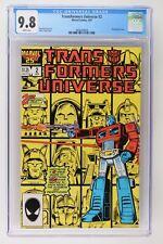 Transformers Universe #2 - Marvel 1987 CGC 9.8 Wraparound cover.