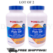 Fish Oil Supplement - 1200 mg Heart Joint Skin Health 360 Softgels EXP:07/2021