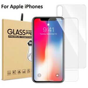 Front & Back Tempered Glass Screen Protector Guard For iPhone 7 8 X XR MAX 11