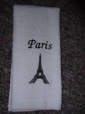 Embroidered ~PARIS EIFFEL TOWER~ Kitchen Bath Hand Towel