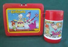 1989 VTG FLINTSTONES DINO'S DENNY'S LUNCHBOX & THERMOS CARTOON TV SHOW PLASTIC