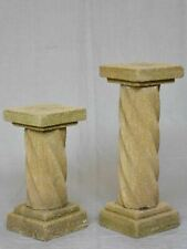 Two mid-century twisted column pedestals 27¼""