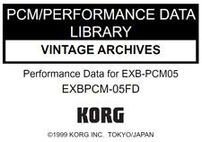 KORG EXB-PCM05 VINTAGE ARCHIVES Factory Preload Disk Triton EXB PCM-05FD