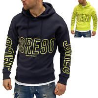 Jack & Jones Herren Hoodie Print Kapuzenpullover Sweatshirt Pullover Casual