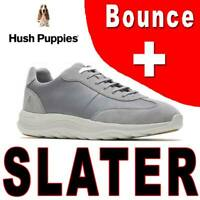 MEN'S HUSH PUPPIES SLATER SNEAKER OXFORD BOUNCE PLUS SUEDE LEATHER GRAY 11.5