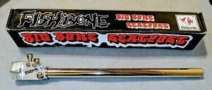 "Fishbone ""Big Bone"" NOS 25.4mm Old School BMX proprietary seatpost SILVER"