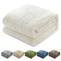 Ultra Plush &Soft Faux Fur Fleece Sherpa Reversible Sofa Couch Bed Throw Blanket