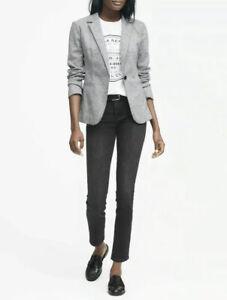 Banana Republic Unstructured Wool-Blend Knit Blazer, Black SIZE 6 NEW  #385811