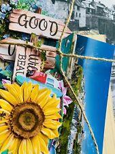 40pc Ephemra & cardstock bundle for scrapbooking, journal, seaside, cornwall