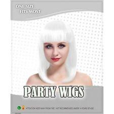 Perruques et toupets blancs longs pour femme