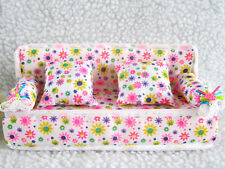 Mini Furniture Sofa Couch +2 Cushions For Barbie Doll House Accessories  GRUS