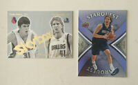 Dirk Nowitzki 2 card INSERT Lot. Skybox Rookies Affirmed & Upper Deck Starquest!