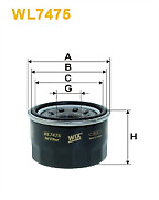 Genuine Wix Oil Filter WL7475 for Smart Fortwo Fortwo Cabrio 451 1.0 see list