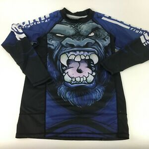 Tatami Gorilla Smash Grappling MMA BJJ Jiu Jitsu Long Sleeve LS Rashguard Size S
