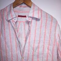 Pal Zileri Designer Men's Linen Striped Shirt