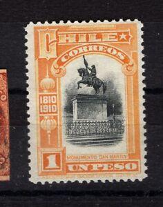 CHILE 1910 Centenary Independance 1 peso San Martin MNH